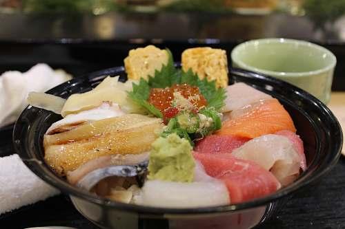tokyo raw meat in black bowl japan