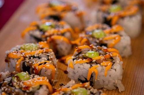 plant rice dish sushi