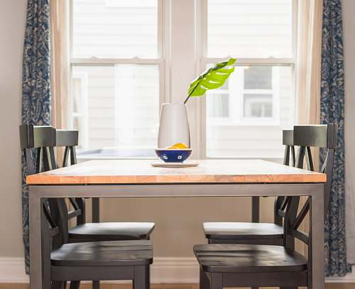 table brown dining table and four chairs dining table