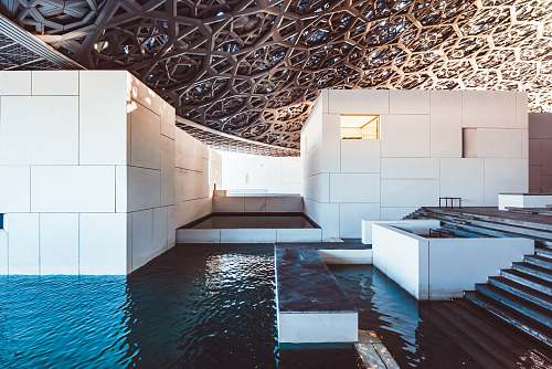 louvre abu dhabi swimming pool united arab emirates