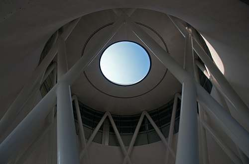 skylight white concrete dome interior singapore