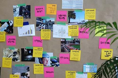 poster sticky notes design