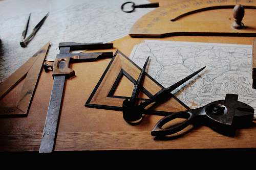 clamp drafting instruments on top of table tool