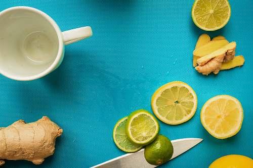 food sliced lemon on white ceramic mug citrus fruit