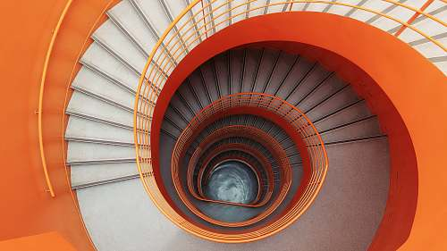 spiral empty spiral stairs on low-angle photograph orléans