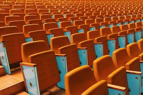 chair orange stadium seats furniture