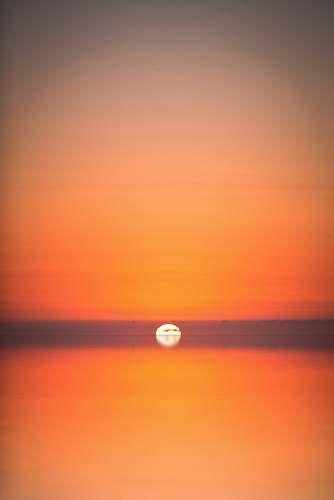 horizon sunset on ocean outdoors
