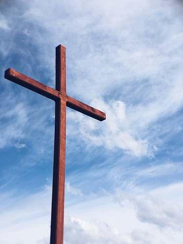 cross brown wooden cross church