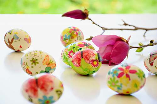 egg decorative floral eggs and pink rose easter egg