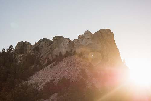 mountain Mount Rushmore keystone
