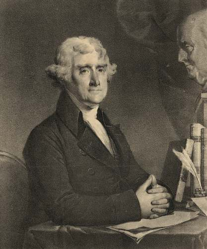 human President Thomas Jefferson art