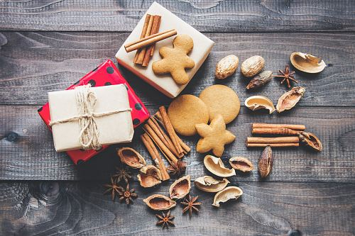 flat lay photography of cookies