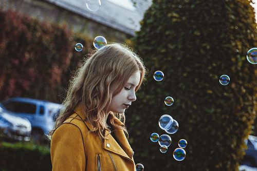 photo selective focus photography of woman with bubbles free for commercial use images