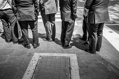 photo standing men in suit phto free for commercial use images