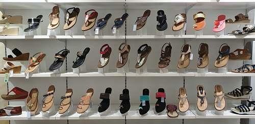 clothing assorted-color footwear display footwear