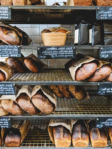 bread baked breads in rack food