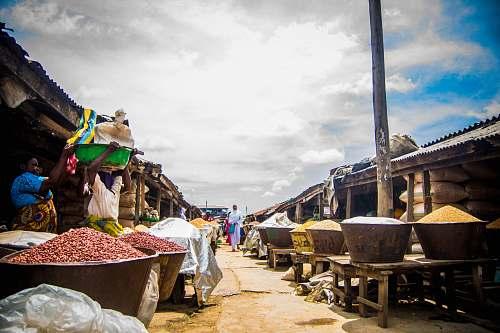 person bucket of spices bazaar