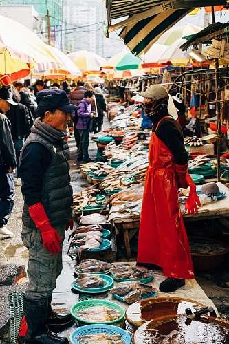 person people in wet market market