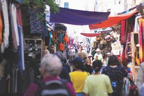 human people on road market