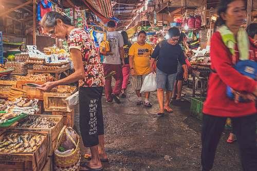 human people walking on market store market