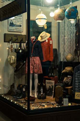 clothing boutique with different apparel on display hat