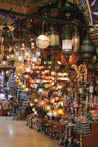 photo market lighted decors bazaar free for commercial use images