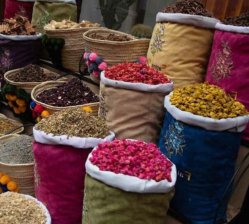market sack of spices bazaar