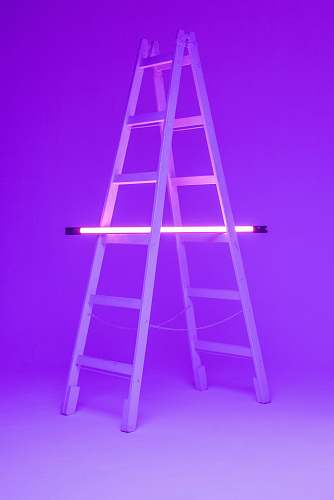 photo stand turned-on fluorescent lamp on folding ladder chair free for commercial use images