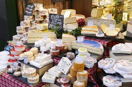 bakery variety of cheese brie