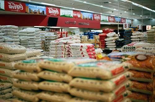 market white plastic sacks grocery store