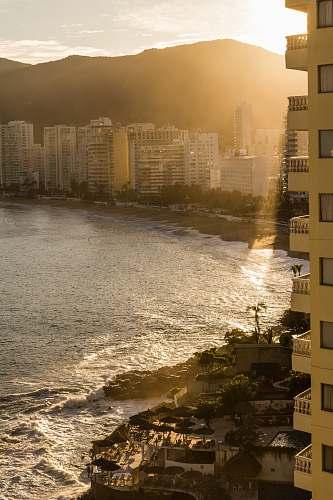 city resort by a beach high rise