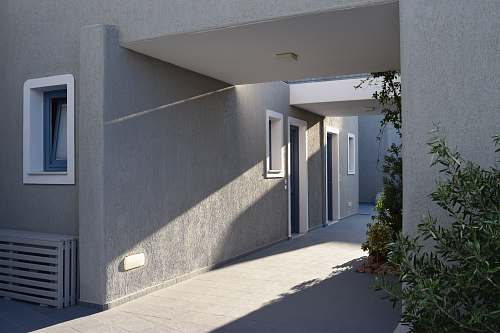 door gray cement building concrete