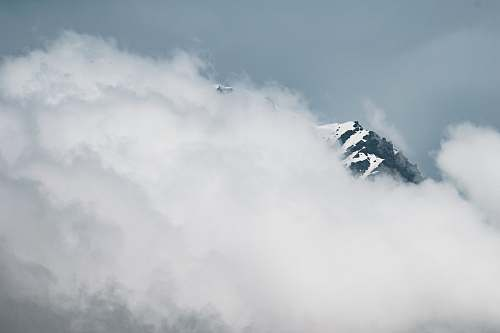 mountain landscape photography of snowy mountain covered white clouds cloud
