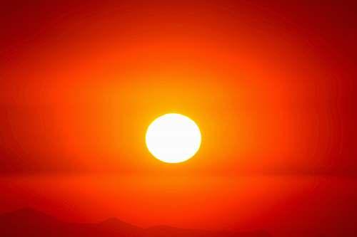 outdoors sunset sun