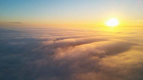 cloud sunlight over clouds sunrise