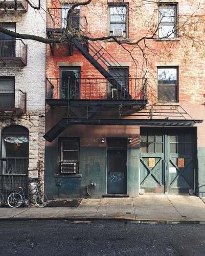 bike gray bike on gray concrete building brick