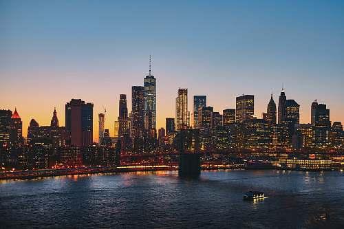urban panoramic photography of Brooklyn Bridge manhattan bridge