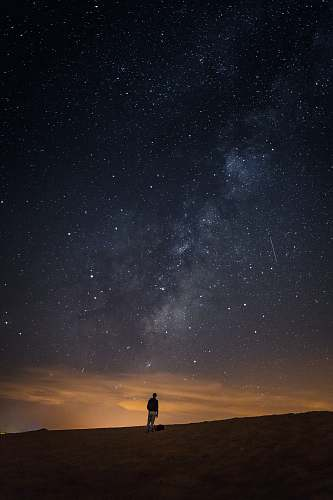 milky way person looking at the milkyway space