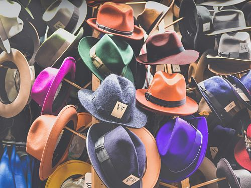 photo assorted fedora hat lot free for commercial use images