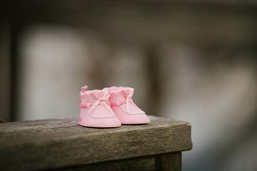 photo shoe selective focus photography of pink shoes on wooden bench pink free for commercial use images