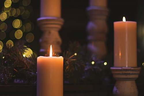 photo fire lighted pillar candles christmas free for commercial use images