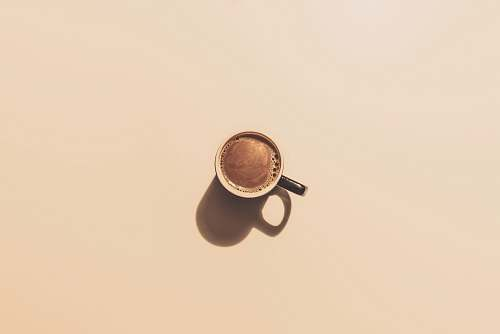 coffee brown ceramic teacup minimal
