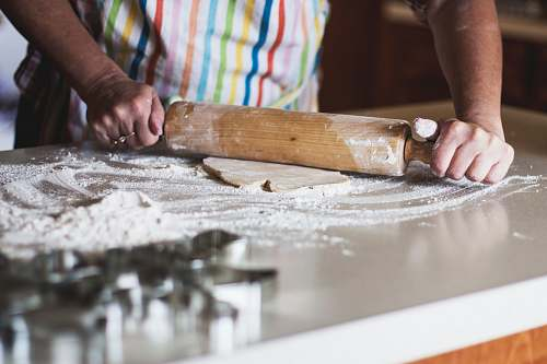 photo food person holding rolling pin person free for commercial use images