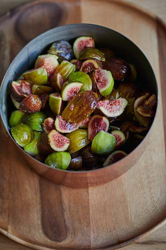 photo fruit bowl of sliced fruits fig free for commercial use images