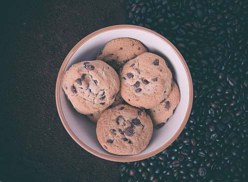 cookie cookies in white ceramic bowl bowl