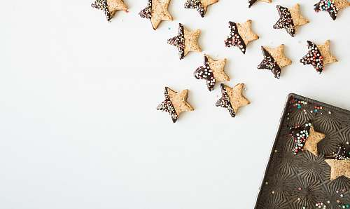 photo cookie star-shape cookies with chocolate fillings christmas free for commercial use images