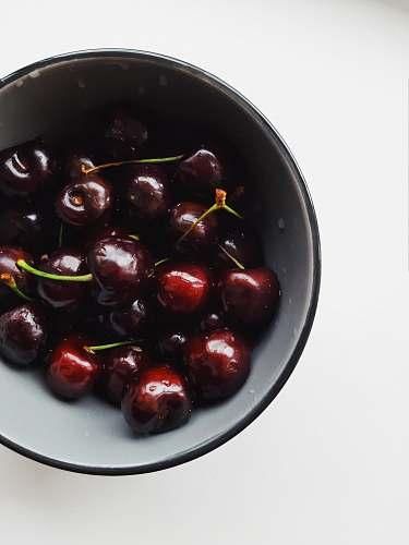 food red cherries in bowl fruit