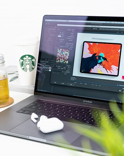 photo turned on MacBook Pro displaying music free for commercial use images