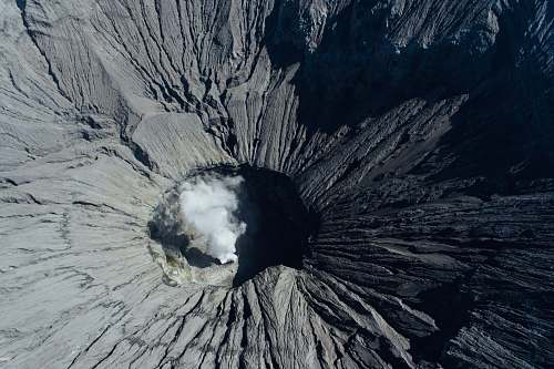 nature aerial view of volcano outdoors