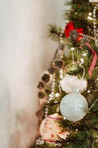 tree brown pinecone Christmas tree decor in macro shot england